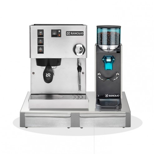 Rancilio Silvia V6 E 2020 Latest Edition + Rancilio Rocky SD + Rancilio Base BS50