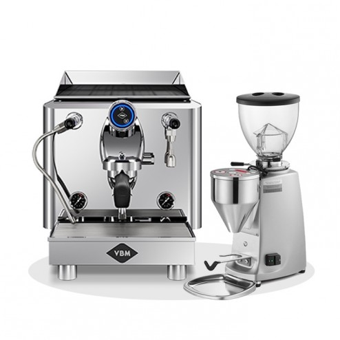 Vibiemme Lollo Semiautomatic 1G & Mazzer Mini Electronic Model A